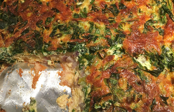 Low Carb Keto Spinach Onion Bacon Quiche